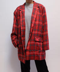 VINTAGE  CHECK BIG JACKET