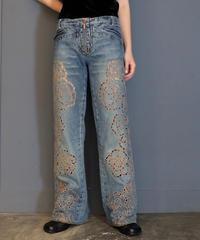 Vintage   Denim Wide Pants