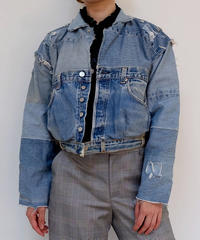 VINTAGE   REMAKE DENIM JACKET