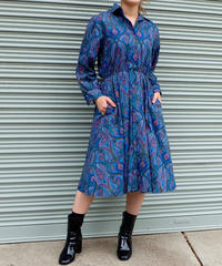 VINTAGE   paisley  ONE PICE