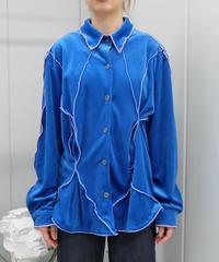 Frill Line Velours Shirt