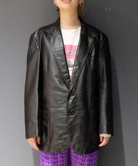 Vintage   Leather Tailored Jacket  2