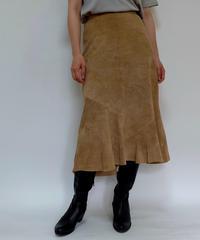 VINTAGE   suede leather SKIRT
