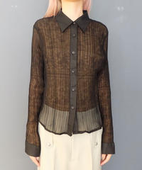 Vintage   Pleats See-through Shirts