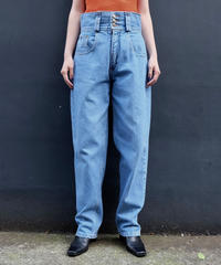 Vintage   High-waist Denim Pants