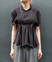 Frill line tuck Poloshirt