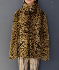 Vintage    Leopard Fake Fur Jacket