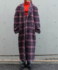 Vintage   Check  Long Coat