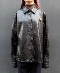 Vintage   Fake Leather Shirt