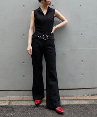 Vintage   Belt Jumpsuits