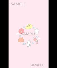 【れれれ】ちまちまちゃんスマホ壁紙(データ販売)
