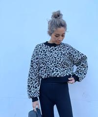 wide sleeve knit「leopa」#03561