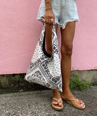 paisley eco bag#8880