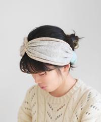 ヘアバンド 秋冬  杢light gray x beige