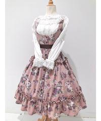 Innocent World/ロマンティックティアードジャンパースカート(ローズピンク×ショコラ)Mサイズ