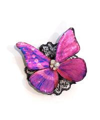 GOTHIC HOLIC/ゴシックホリック  舞い踊る蝶々クリップ(中)赤紫