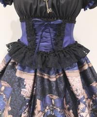 Enchantlic EnchantilIy/アンシャンテリックアンシャンテリー  ローズレースリボンコルセット(青×黒レース)