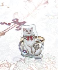 Enchantlic EnchantilIy/アンシャンテリックアンシャンテリー 白いねこリング(Dolled up Ring)