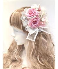 Pina sweetcollection/薔薇とあじさいのコーム(ホワイト)