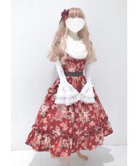 Innocent World/イノセントワールド ロマンティックティアードジャンパースカート(ローズレッド×ショコラ)Lサイズ