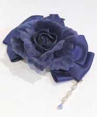 Enchantlic EnchantilIy/アンシャンテリックアンシャンテリー ローズリボンブローチ(青×青薔薇)