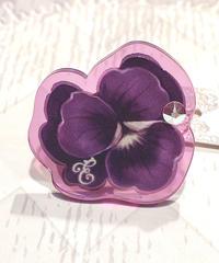 Enchantlic Enchantilly/アンシャンテリックアンシャンテリー すみれリング・大きめモチーフ(濃い紫)