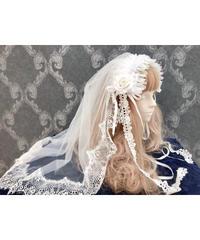 Triple* fortune /ベールヘッドドレス(ホワイトローズ)