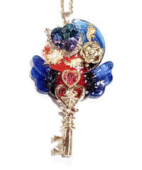 てんしのしっぽ☆  Angel moon key(黒×赤)