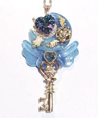 てんしのしっぽ☆  Angel moon key(水色)