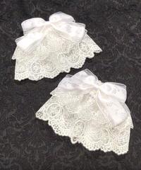 ATELIER-PIERROT/アトリエピエロ 薔薇リボンレースお袖とめ〈ホワイト〉