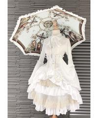ATELIER-PIERROT シャーロットバッスルコルセットスカート(White×Gold)