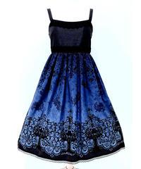 Enchantlic EnchantilIy/アンシャンテリックアンシャンテリー  ファントムローズガーデンジャンパースカート〈青×黒〉