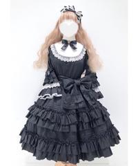 Pina sweetcollection/ドール姫袖ワンピース(ブラック)