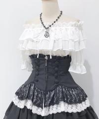 Sheglit/シェグリット Empressレースコルセット(黒×白レース)