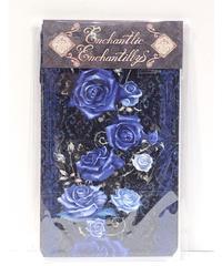 Enchantlic Enchantilly/アンシャンテリックアンシャンテリー 薔薇姫の王冠オーバーニーソックス(青薔薇×黒)