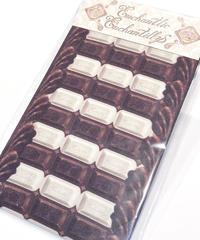Enchantlic EnchantilIy/アンシャンテリックアンシャンテリー チョコレートボーダーオーバーニー(ホワイト×チョコ)