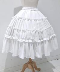 Millefleurs/ジョゼットスカート(オフホワイト)