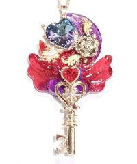 てんしのしっぽ☆  Angel moon key(パープル×レッド)