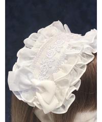 ATELIER-PIERROT/アトリエピエロ ローズフリルヘッドドレス(ホワイト)