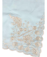 Victorian maiden/孔雀刺繍ハンカチ(ミント)