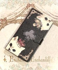 Enchantlic Enchantilly/アンシャンテリックアンシャンテリー 手帳型スマートフォンケース(汎用タイプ)QueenCat~トランプの国~(黒)