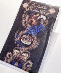 Enchantlic EnchantilIy/アンシャンテリックアンシャンテリー ヴァイオリンローズオーバーニーソックス(黒×青薔薇)