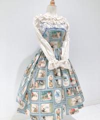 Innocent World/ベルエポックジャンパースカート (ブルー×生成)Mサイズ