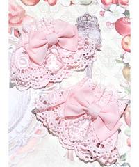 Enchantlic EnchantilIy/アンシャンテリックアンシャンテリー シャンデリアビーズのお袖留め(ピンク)