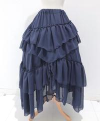 Sheglit/Empressロングスカート (ネイビー)