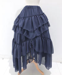 Sheglit/シェグリット Empressロングスカート (ネイビー)