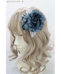 Victorian maiden/ロリアレットコサージュ(グレイッシュブルー)