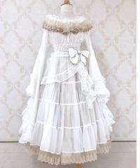 Triple* fortune / リリウムドレス(オフホワイト×ベージュ)