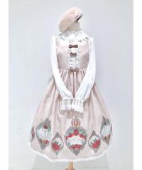 Enchantlic EnchantilIy/アンシャンテリックアンシャンテリー 薔薇のお庭でかくれんぼジャンパースカート〈ミルクティーピンク〉