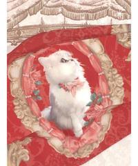 Enchantlic EnchantilIy/アンシャンテリックアンシャンテリー オリジナル柄おしゃれマスク(猫の王女達の肖像画)チェリーレッド